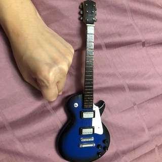 Electric blue guitar deco piece mini