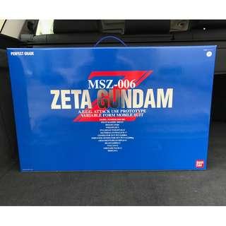 請看推廣優惠 可變戰機 夠氣勢 大比例 BANDAI PG 全新未砌 1比60 Zeta Z Gundam MSZ 00 6 Perfect Grade 高達模型