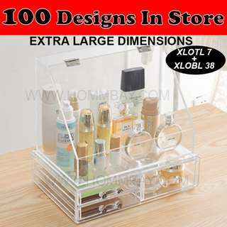 Clear Acrylic Transparent Make Up Makeup Cosmetic Jewellery Jewelry Organiser Organizer Drawer Storage Box Holder (XLOTL7 +XLOBL38)