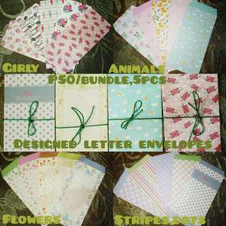 Designed letter envelopes