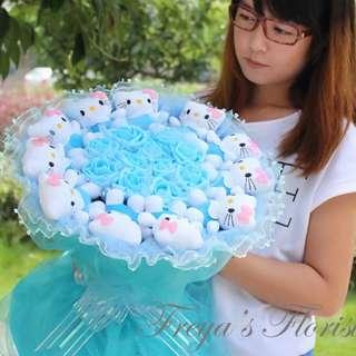 07 Purify Hello Kitty Soft Toy Flower Bouquet Valentine Day
