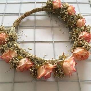 Headband bunga peach