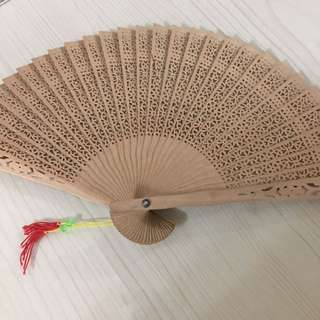 Wooden foldable fan - B