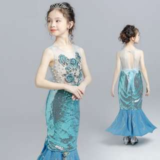 Mermaid dress/height 100 to 160cm