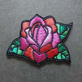 Rose Flower Iron On Patch
