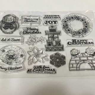 Christmas Clear stamp