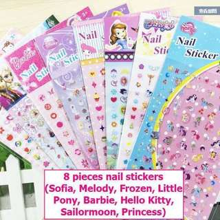 Big size nail sticker set