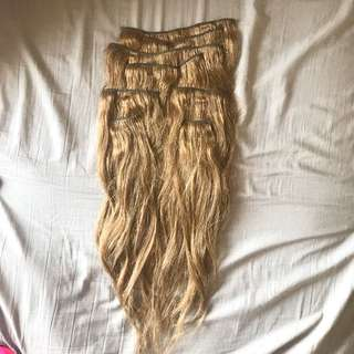 Clip on hair extensions - 45cm approx