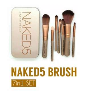 Naked 5 7pcs Brush with can