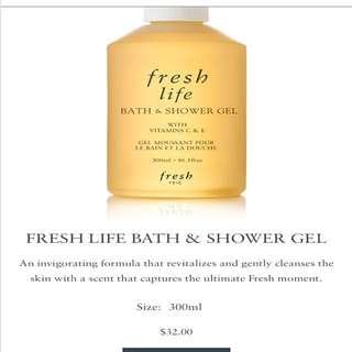 Fresh life bath and shower gel