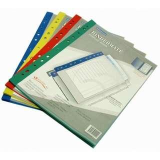 Clear folder- Bindermate display books