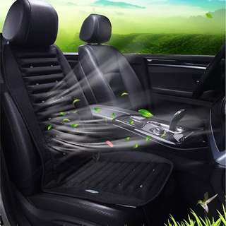 Car seat cushion with fan