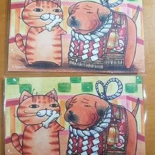 🚚 日本帶回現貨☆精緻貓咪手繪明信片