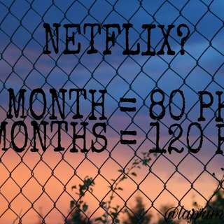 1 MONTH NETFLIX FOR 80 PESOS!
