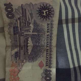 100rm bank note