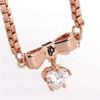 JC Rose gold heart necklace
