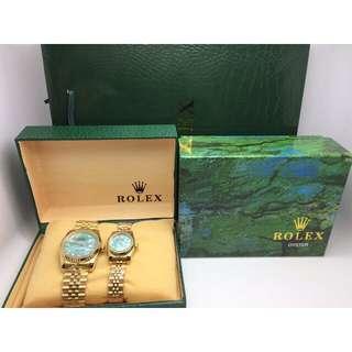 Authentic Rolex Couple watch