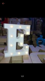 10-inches letter standee with light