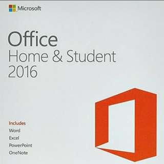 🌟 正版- Office 2016 家用版 全新序號