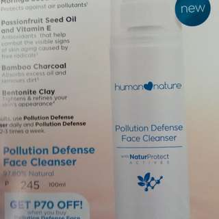 Pollution defense face cleanser