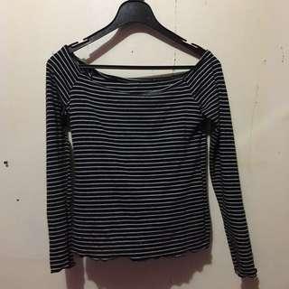 Striped Off shoulder