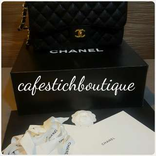 Chanel caviar jumbo doble flap bag