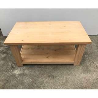 IKEA松木實木大茶几 庭園桌 咖啡桌 多功能收納茶几 矮桌 方桌 客廳桌 方形茶几 收納櫃A1264