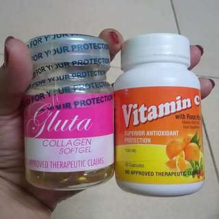 Gluta collagen caps plus vit c