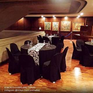 Table and chairs and cloth rental