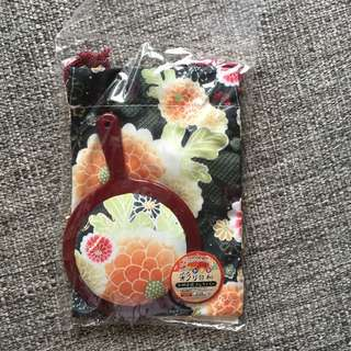 Japanese Mirror and Pouch