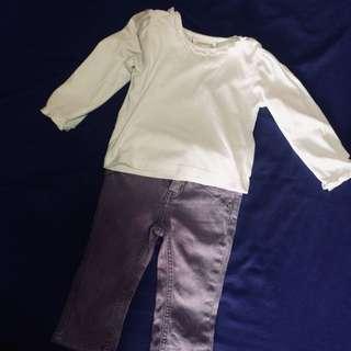 White top & Pants