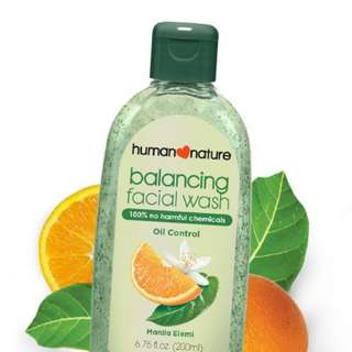 Balancing facial wash