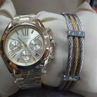 MK Watch And Bangle Set