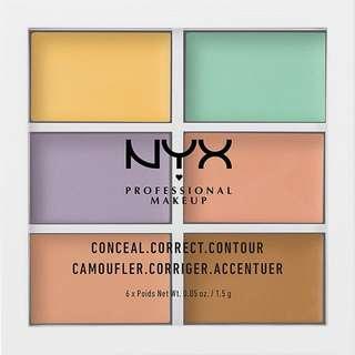 全新 NYX 五色遮瑕修容 100%new NYX color correcting palette