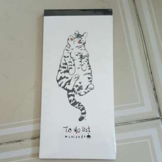 Cat to do list notepad