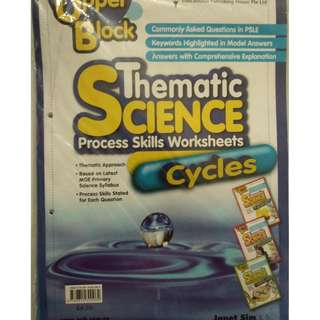 Upper Block Thematic Science Process Skills Worksheet-Cycles