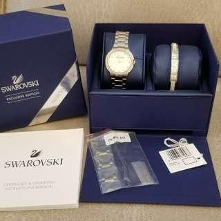 SWAROVSKI 水晶手錶及手鏈套裝 (全新未用過)