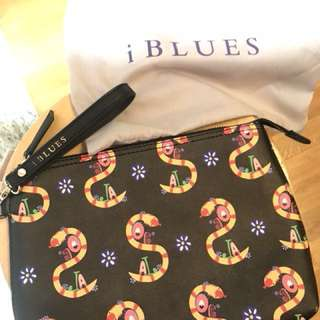 全新 iBLUES (MaxMara副線) 黑色輕便代妝袋