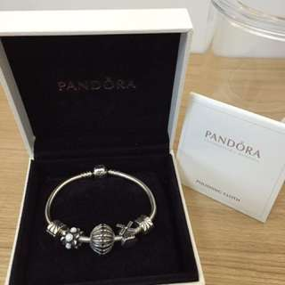 💍Pandora 15cm bracelet with charms