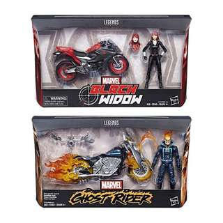 [PRE ORDER] Hasbro - Marvel Legends Rider Series - Set of 2 (Black Widow & Ghost Rider) - 1/12 Collectible Action Figure