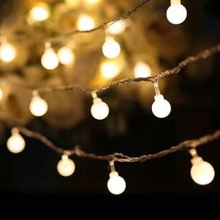100 led warm light 10m ball shape led light