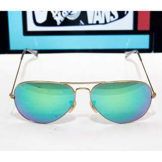 Ray Ban  AVIATOR FLASH LENSES LENSES: Green Flash 58/62 mm size