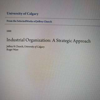 HE2009 Industrial Organisation textbook (binded)