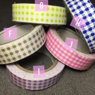 Fabric Washi Checks