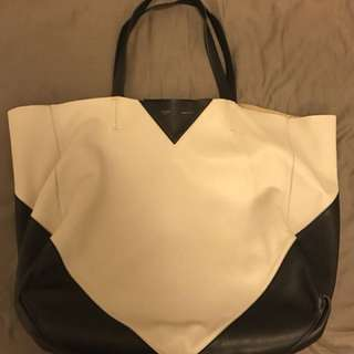 Celine tote bag black/off white