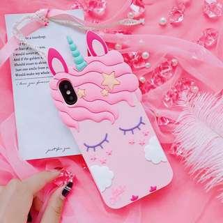 《預購》蘋果手機-粉色獨角獸夢幻矽膠手機殼-iphone6.iphone7.iphone8.iphoneX