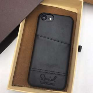 iPhone 7/8 leather case black