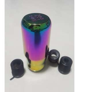 (REST0CK1) Chameleon Skunk2 Gear Knob Rainbow Colour - Long Knob - (BRAND NEW WITH BOX)