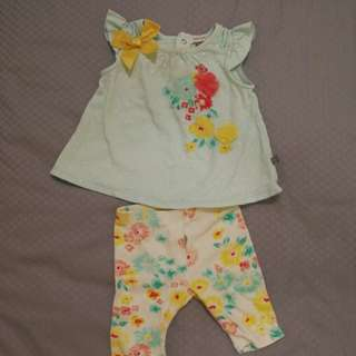 Dress & legging set - 6mo