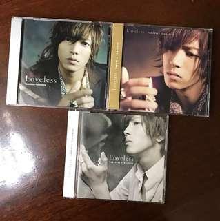 山下智久 Loveless 初回A B盤及通常盤 3CD